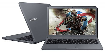 "Notebook - Samsung Expert X40 - Tela 15.6"" HD, Intel i5 8250U, 8GB DDR4, HD 1TB, GeForce MX110 2GB, Windows 10 - Titanium - NP350XAA-XD1BR"