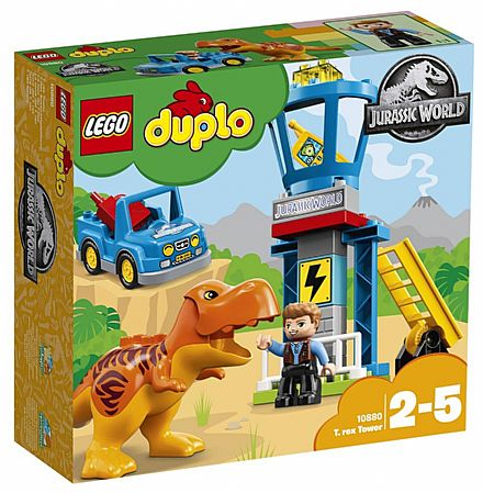 Brinquedo - LEGO Duplo Jurassic World - Torre do T-Rex - 10880