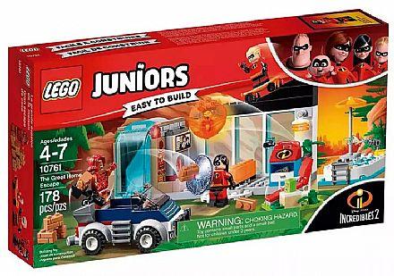 Brinquedo - LEGO Juniors Os Incríveis - A Grande Fuga de Casa - 10761