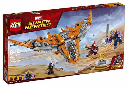 Brinquedo - LEGO Marvel Super Heroes - Thanos: A Batalha Final - 76107