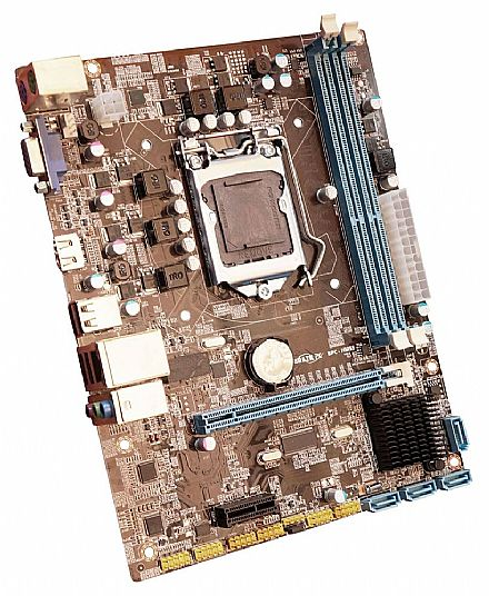 Placa Mãe para Intel - Placa Mãe BPC-HM55 (LGA 1156 - DDR3 1600) Chipset Intel H55 - Micro ATX - OEM