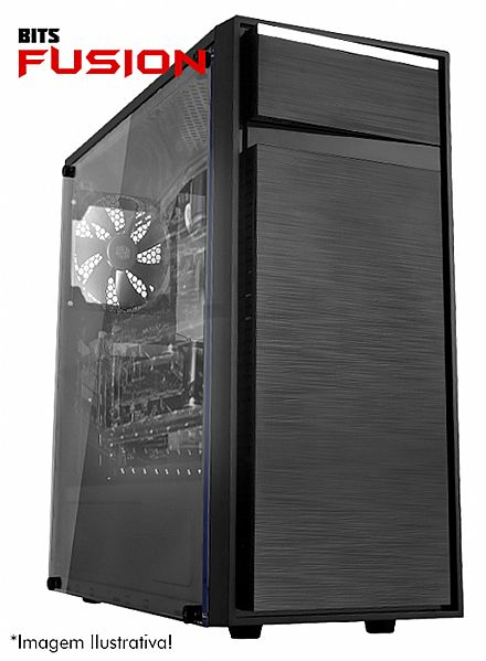 Computador Gamer - PC Gamer Bits FUSION - Intel® i5, 8GB, HD 500GB, Geforce GTX 1050 3GB, Windows 10 PRO - Seminovo - Garantia 2 anos