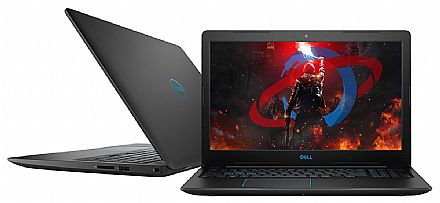 "Notebook - Dell Gaming G3-3579-A20P - Tela 15.6"" Full HD IPS, Intel i7 8750H, 16GB, SSD 480GB, GeForce GTX 1050 Ti 4GB, Windows 10"