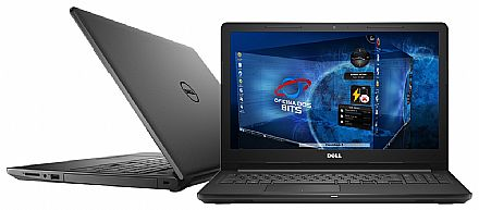 "Notebook - Dell Inspiron I15-3567-D40P - Tela 15.6"" HD, Intel i5 7200U, 8GB, HD 1TB, Intel HD Graphics 620, Linux - Preto - Outlet"