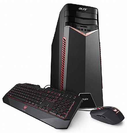 Computador Gamer - Computador Gamer Acer Aspire GX-783-BR13 - Intel i7 7700, 16GB, HD 1TB, GeForce GTX 1060 6GB, Kit Teclado e Mouse, Windows 10