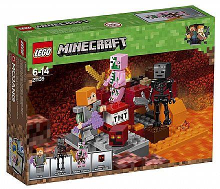 Brinquedo - LEGO Minecraft - O Combate de Nether - 21139