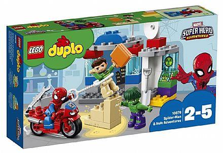 Brinquedo - LEGO Duplo - As Aventuras do Homem-Aranha e Hulk - 10876