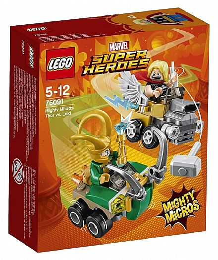 Brinquedo - LEGO Marvel Super Heroes - Mighty Micros: Thor vs Loki - 76091