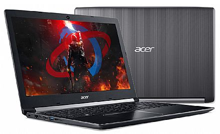 "Notebook - Acer Aspire A515-51G-53T9 - Tela 15.6"" HD, Intel i5 7200U, 12GB, SSD 480GB, GeForce 940MX 2GB, Windows 10"