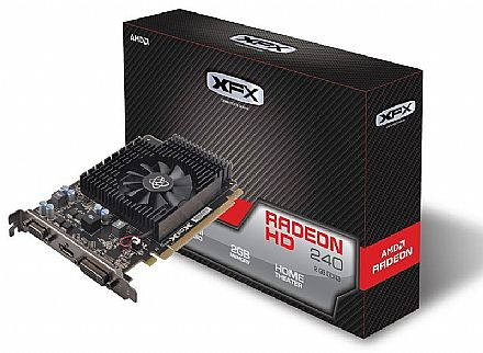 Placa de Vídeo - AMD Radeon R7 240 2GB DDR3 128bits - XFX R7-240A-2TS4