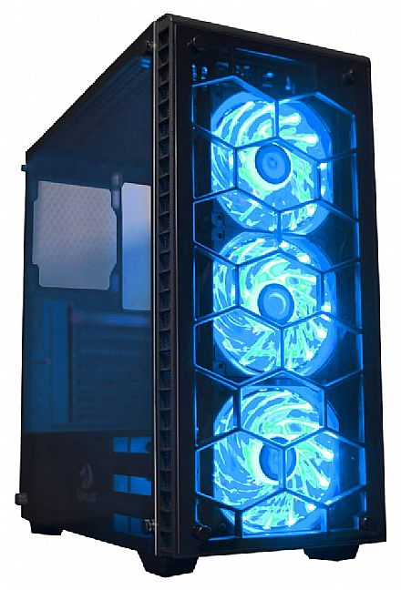 Gabinete - Gabinete Redragon Diamond Storm - Coolers RGB - Painel Frontal e Lateral em Vidro Temperado - CA903