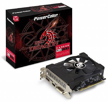 Placa de Vídeo - AMD Radeon RX 550 2GB GDDR5 128bits - AXRX - PowerColor 2GBD5-DHA/OC