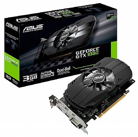 Placa de Vídeo - GeForce GTX 1050 3GB GDDR5 92bits - Asus PH-GTX1050-3G