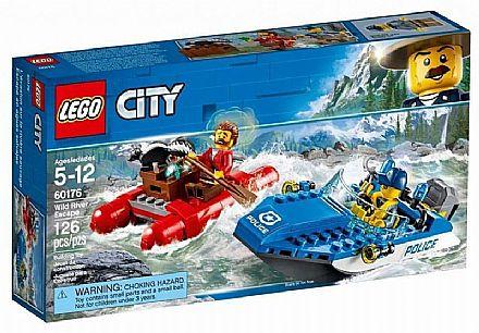 Brinquedo - LEGO City - Fuga no Rio Furioso - 60176