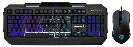 Kit Teclado e Mouse - Kit Teclado e Mouse Gamer Fortrek - Teclado K1 + Mouse Pro M7 - ABNT2 - Teclas Multimídia - 4800dpi - 8 Botões - LED RGB