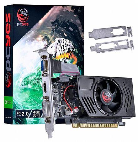 Placa de Vídeo - GeForce GT 730 4GB GDDR3 128bits - Low Profile - PCYes LP PV73012804D3LP