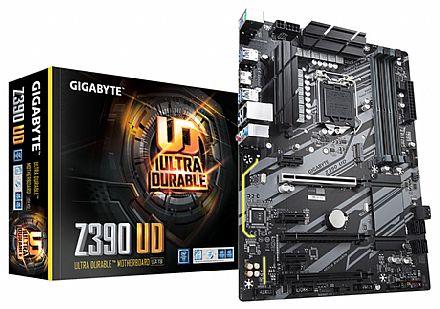 Placa Mãe para Intel - Gigabyte Z390 UD (LGA 1151 - DDR4 2666) Chipset Intel Z390 - Compatível com a 9ª Geração Intel - USB 3.1 Type C - Slot M.2