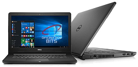 "Notebook - Dell Inspiron i14-3467-M10P - Tela 14"", Intel i3 6006U, 4GB DDR4, HD 1TB, Intel HD Graphics 520, Windows 10 - Preto - Outlet"