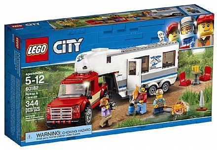 Brinquedo - LEGO City - Pick-up e Trailer - 60182