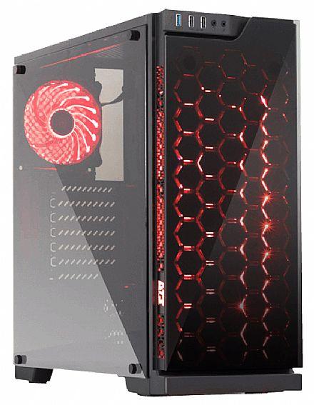 Gabinete - Gabinete DT3 Sports Edge Glass - PSU Cover - Lateral e Frontal de Vidro Temperado