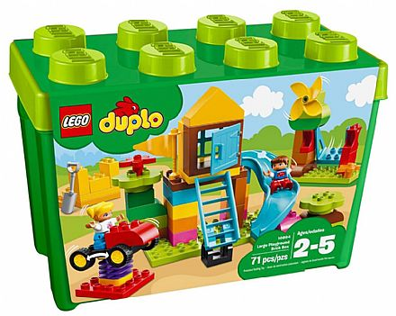 Brinquedo - LEGO DUPLO - Caixa de Peças Grandes - Parquinho de Diversões - 10864
