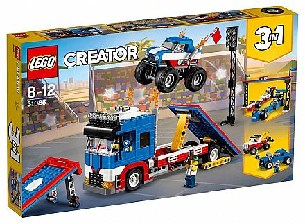 Brinquedo - LEGO Creator - Modelo 3 em 1: Espetáculo em Quatro Rodas - 31085