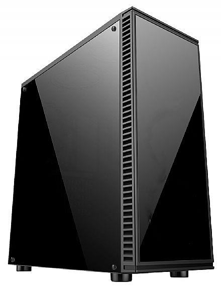 Gabinete - Gabinete Gamer Bluecase BG-2514 - USB 3.0 - Lateral e Frontal em Acrílico - Sem Fonte
