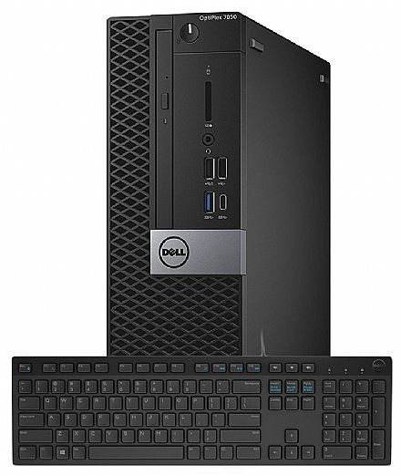 Computador - Computador Dell OptiPlex 7050 Mini Tower - Intel i5 7500, 4GB, HD 500GB, DVD, Teclado, Windows 10 Pro - Garantia 90 dias - Outlet
