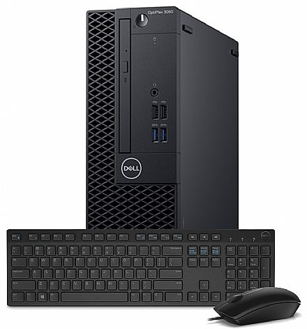 Computador - Computador Dell OptiPlex 3060 Small Desktop - Intel i5 8400, 4GB, HD 500GB, DVD, Kit Teclado + Mouse, Windows 10 Pro - Garantia 90 dias - Outlet