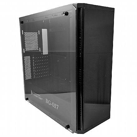 Gabinete - Gabinete Gamer Bluecase BG-017 - USB 3.0 - Lateral em Vidro Temperado