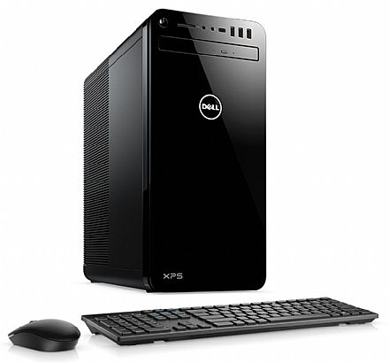 Computador - Computador Dell XPS-8930-A30 - Intel i7 8700, 8GB, HD 1TB, GeForce GT 1030 2GB, DVD, Kit Teclado + Mouse, Windows 10