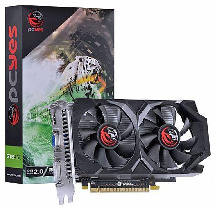 Placa de Vídeo - GeForce GTS 450 2GB GDDR5 128bits - PCYes PPV450GS12802G5