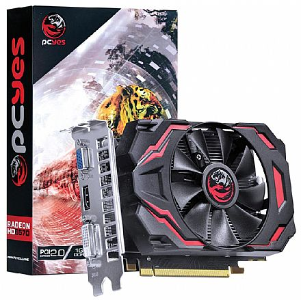 Placa de Vídeo - AMD Radeon HD 6570 1GB GDDR3 128bits - PCYes PPV657012801D3