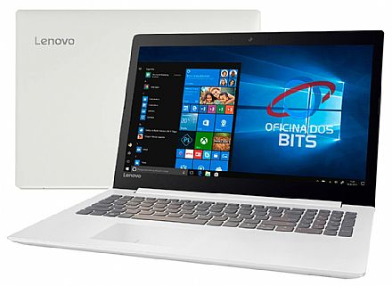 "Notebook - Notebook Lenovo Ideapad 330 - Tela 15.6"", Intel i5 8250U, 20GB, SSD 480GB, Intel UHD Graphics 620, Windows 10 - Branco - 81FE000EBR"