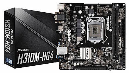 Placa Mãe para Intel - ASRock H310M-HG4 (LGA 1151 - DDR4 2666) Chipset Intel H310 - USB 3.1- Micro ATX