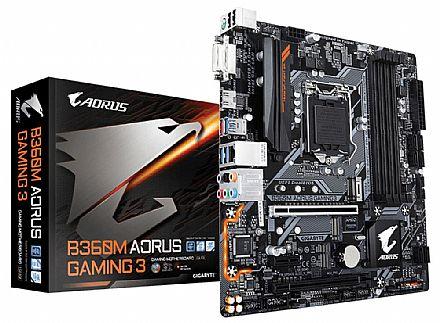 Placa Mãe para Intel - Gigabyte B360M AORUS GAMING 3 - (LGA 1151 - DDR4 2666) Chipset Intel B360 - Slot M.2 - Micro ATX