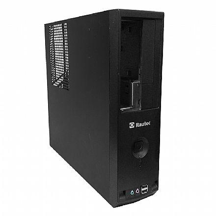 Gabinete - Gabinete Slim Itautec 4271/4272/4273 - USB e Áudio frontal - Sem fonte - Seminovo