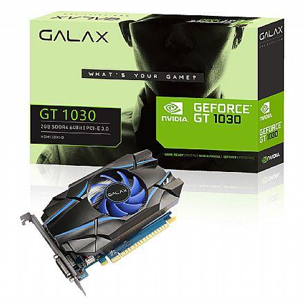 Placa de Vídeo - GeForce GT 1030 2GB SDDR4 64bits - Galax 30NPK4HVQ4BG
