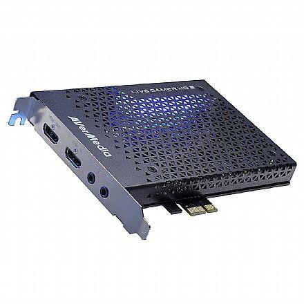 Captura de TV/Video - Captura de Video Live Gamer Avermedia GC570 - PCI-E - Full HD 1080p - HDMI e Conector 3.5mm - com LED - Ideal para Gravar Jogos
