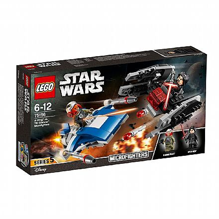 Brinquedo - LEGO Star Wars Microfighters - A-wing vs. Silenciador TIE - 75196