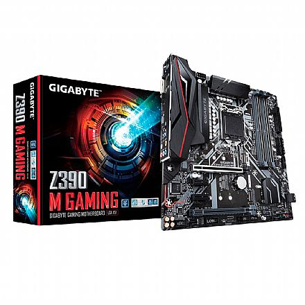 Placa Mãe para Intel - Gigabyte Z390 M GAMING (LGA 1151 - DDR4 4266 O.C) - Chipset Intel Express Z390 - 8ª e 9ª Geração - USB 3.1 Tipo C - Slot M.2 - Micro ATX