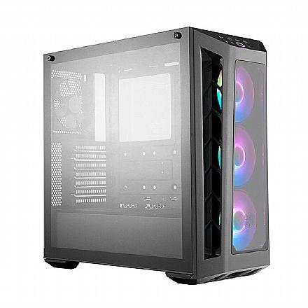 Gabinete - Gabinete Cooler Master MasterBox MB530P - Janelas em Vidro Temperado - Cooler RGB - MCB-B530P-KHNN-S01