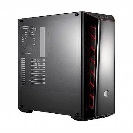 Gabinete - Gabinete Cooler Master MasterBox MB520 Red - Janela Lateral em Acrílico - USB 3.0 - MCB-B520-KANN-S00