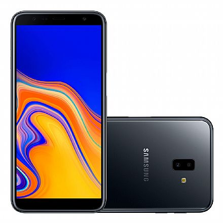 """Smartphone - Smartphone Samsung Galaxy J6+ - Tela 6"""" HD+, 32GB, Dual Chip 4G, Câmera Dupla 13MP + 5MP, Leitor de Digital - Preto - J610G"""