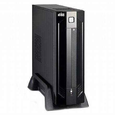 Gabinete - Gabinete K-Mex GI-9D89 - Micro ITX - Preto Piano - com Fonte 180W