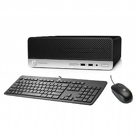 Computador - Computador HP ProDesk 400 G5 - Intel Core i3-8100, 4GB, HD 500GB, Kit Teclado e Mouse, Windows 10 Pro - 5LA53LA