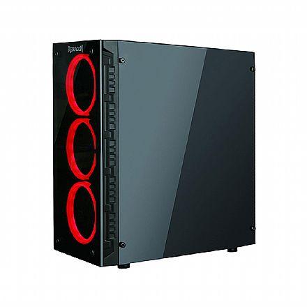 Gabinete - Gabinete Gamer Redragon Trailbreaker - Coolers RGB - Lateral em Acrílico e Frontal em Vidro Temperado - GC603