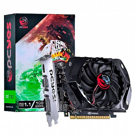 Placa de Vídeo - GeForce GT 730 1GB GDDR5 128bits - PCYes PY730GT12801G5