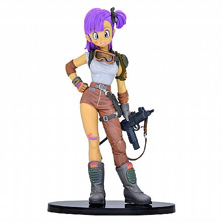 Brinquedo - Action Figure - Dragon Ball - Scultures - Bulma Ending Color - Bandai Banpresto 26988/26989