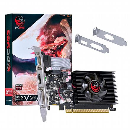 Placa de Vídeo - AMD Radeon HD 5450 1GB GDDR3 64bits - Low Profile - PCYes PJ54506401D3LP